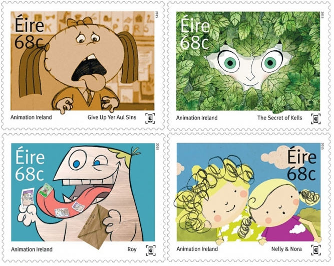 Animation Ireland stamps